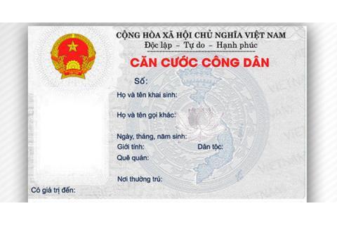 Cấp, đổi thẻ căn cước công dân