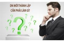 Kê khai thuế ban đầu cho doanh nghiệp mới thành lập